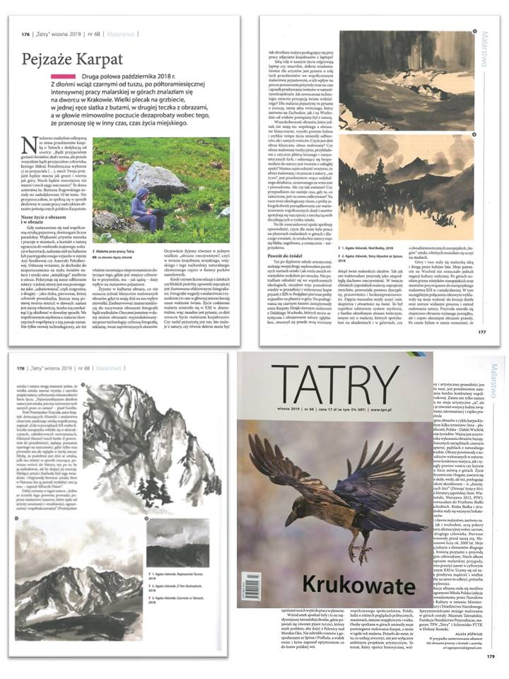 Article: Carpathian Paintings, magazine Tatry TPN, 2019