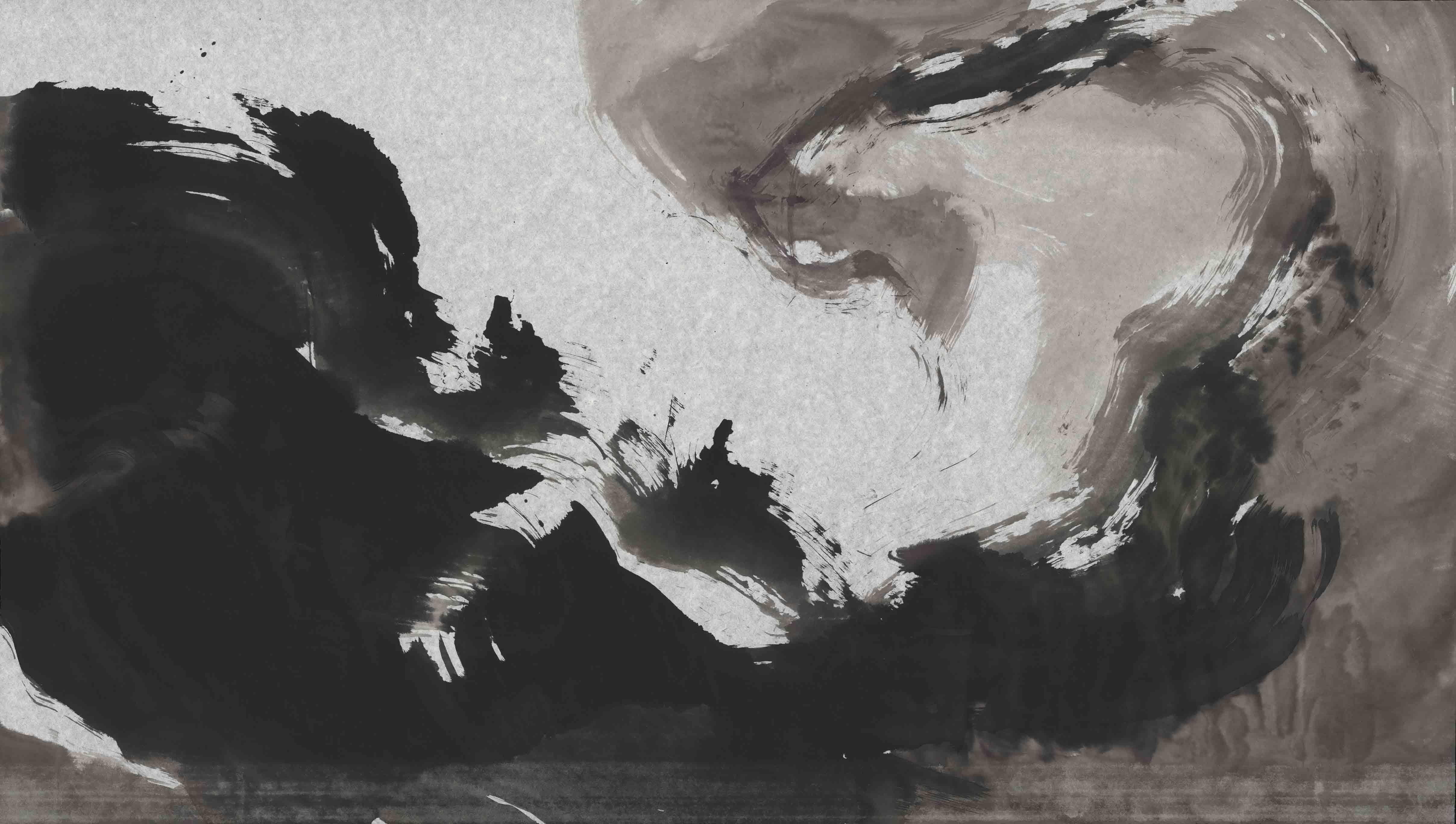 Life of a river, 60x80 cm, ink, paper, 2016