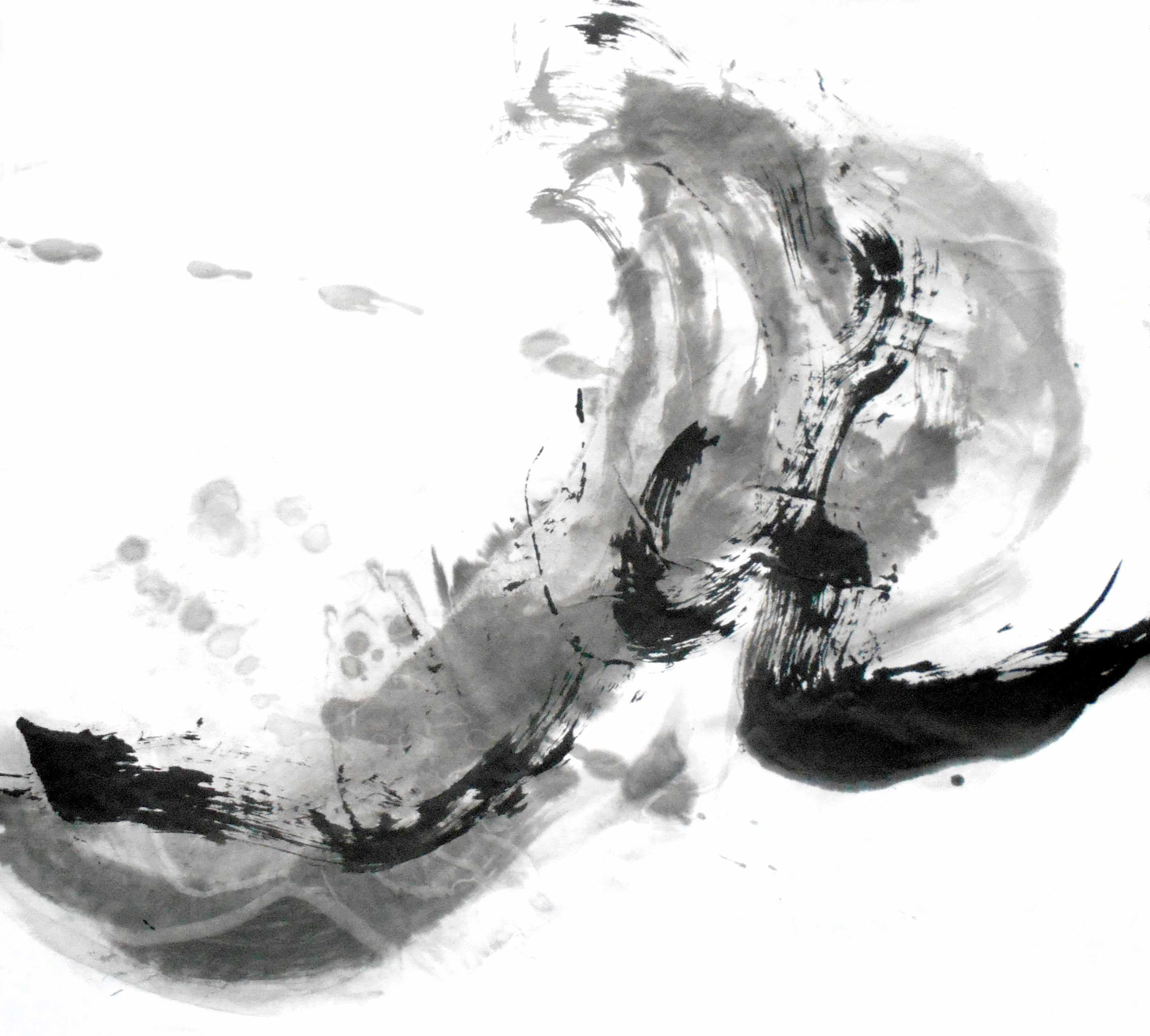 Water, 60x65cm, papier, tusz, 2017