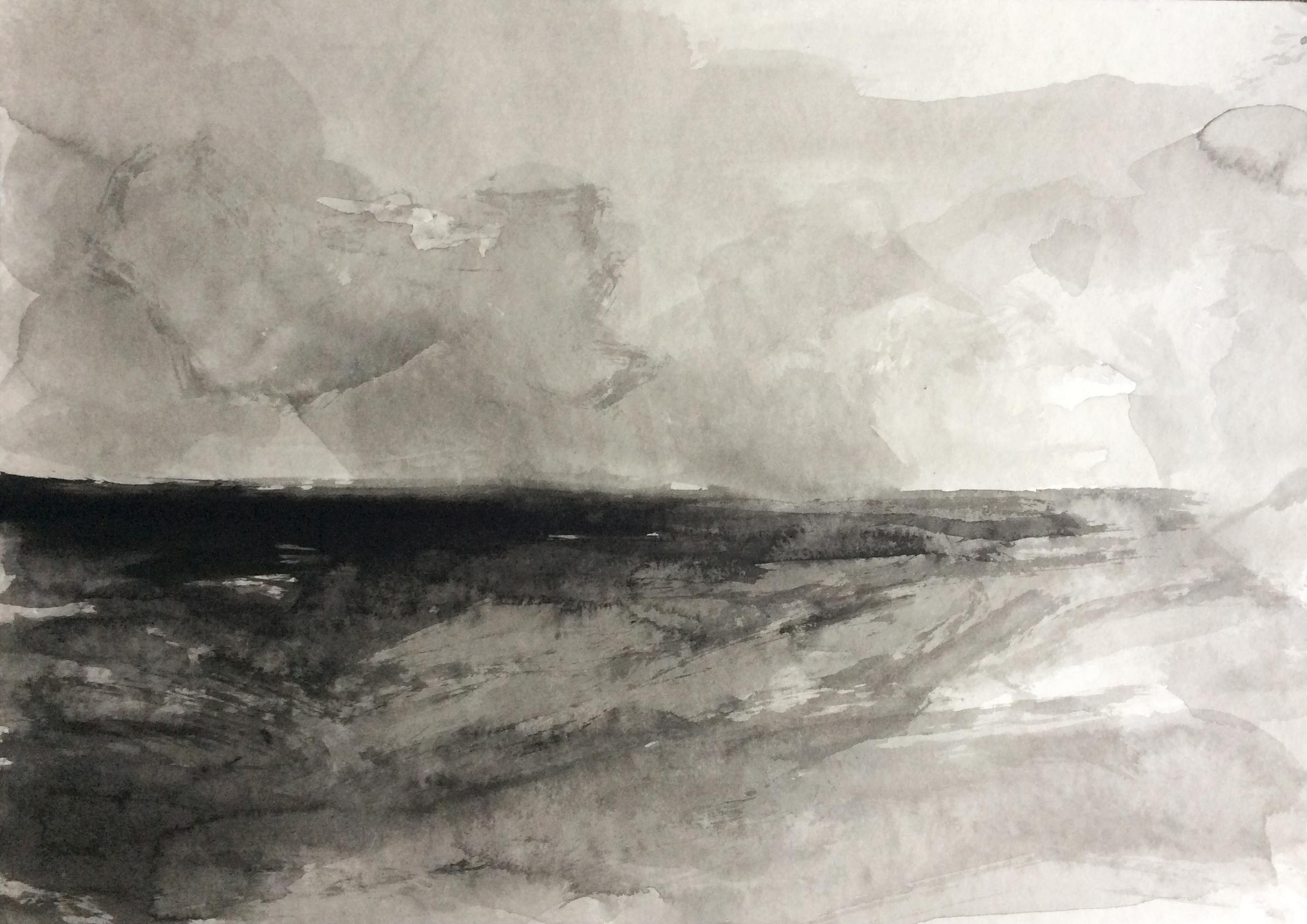 The cloud, 30x40cm, ink, paper, 2020