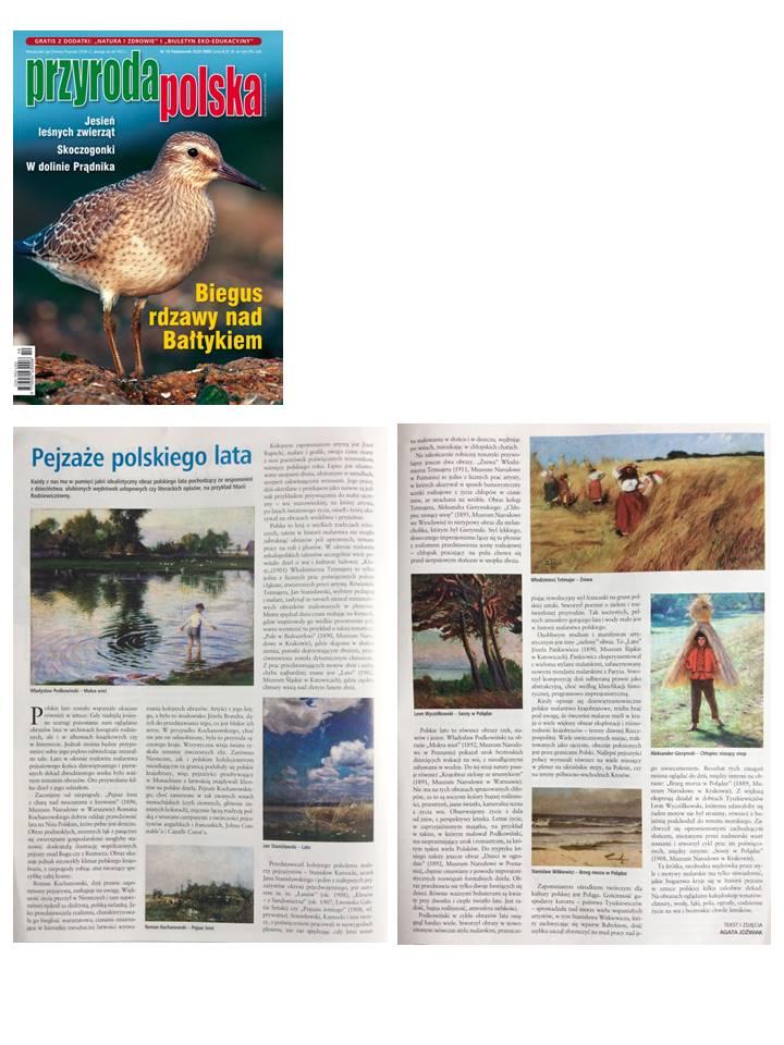 Polish summer landscapes, magazine Przyroda Polska (Polish nature), 2020