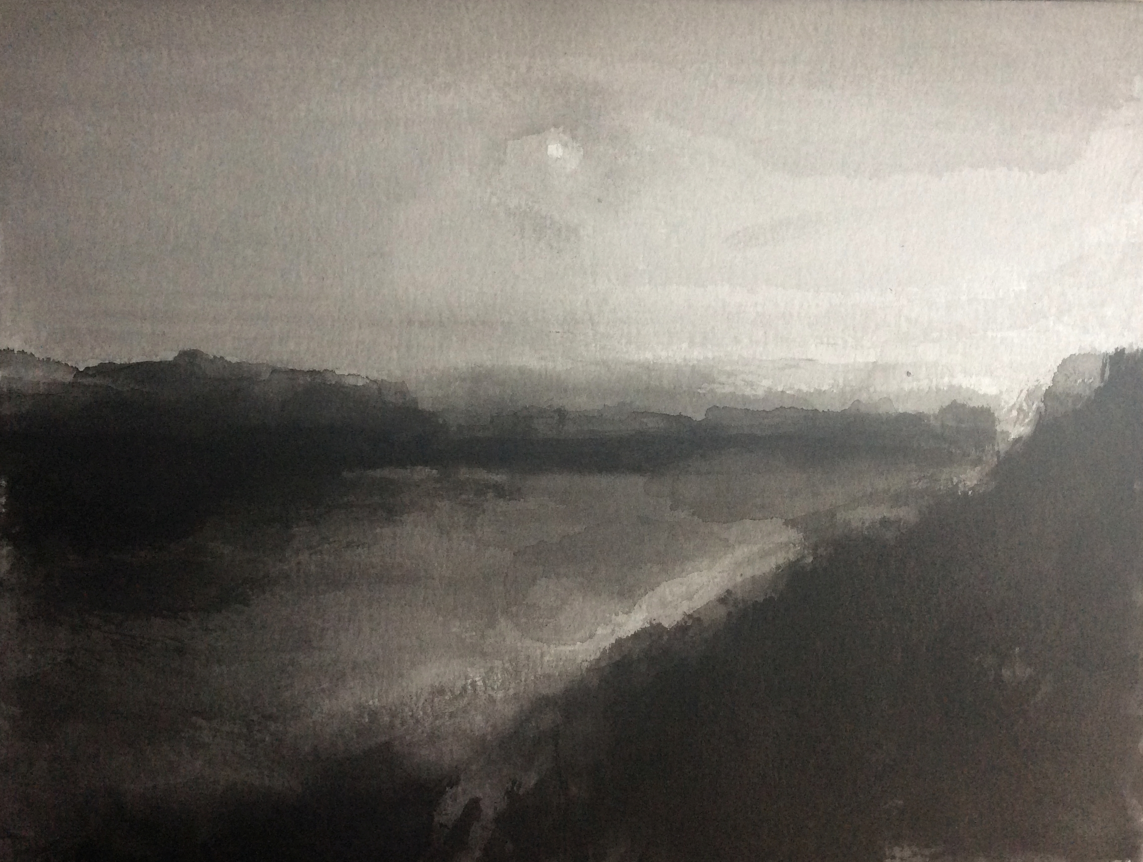 Vistula River, 30x40cm, ink, paper, 2020
