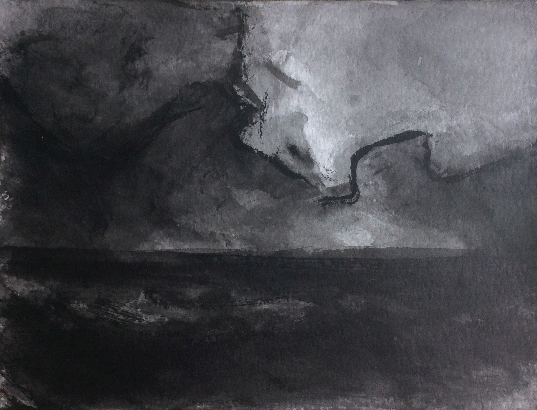 A storm is coming, 30x40cm, ink, paper, 2020
