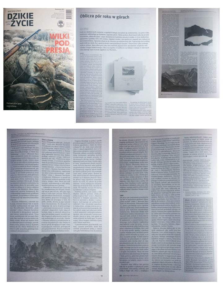 Images of seasons in the mountains, magazine Dzikie Życie (Wild life), 2021