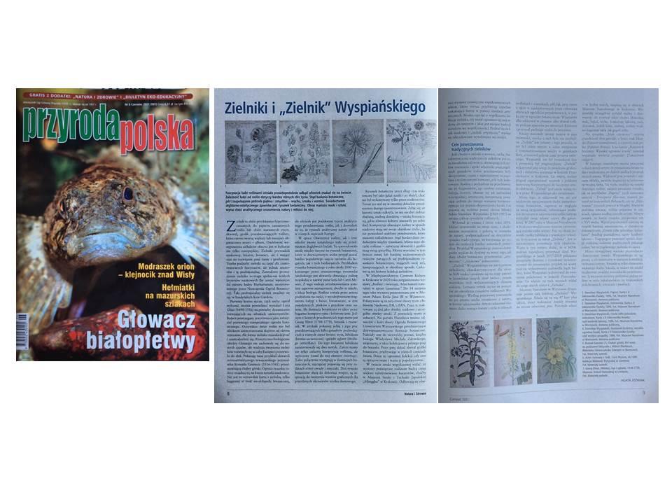 Herbarium and Wyspiański's Harbarium, magazine Przyroda Polska (Polish Nature), 2021