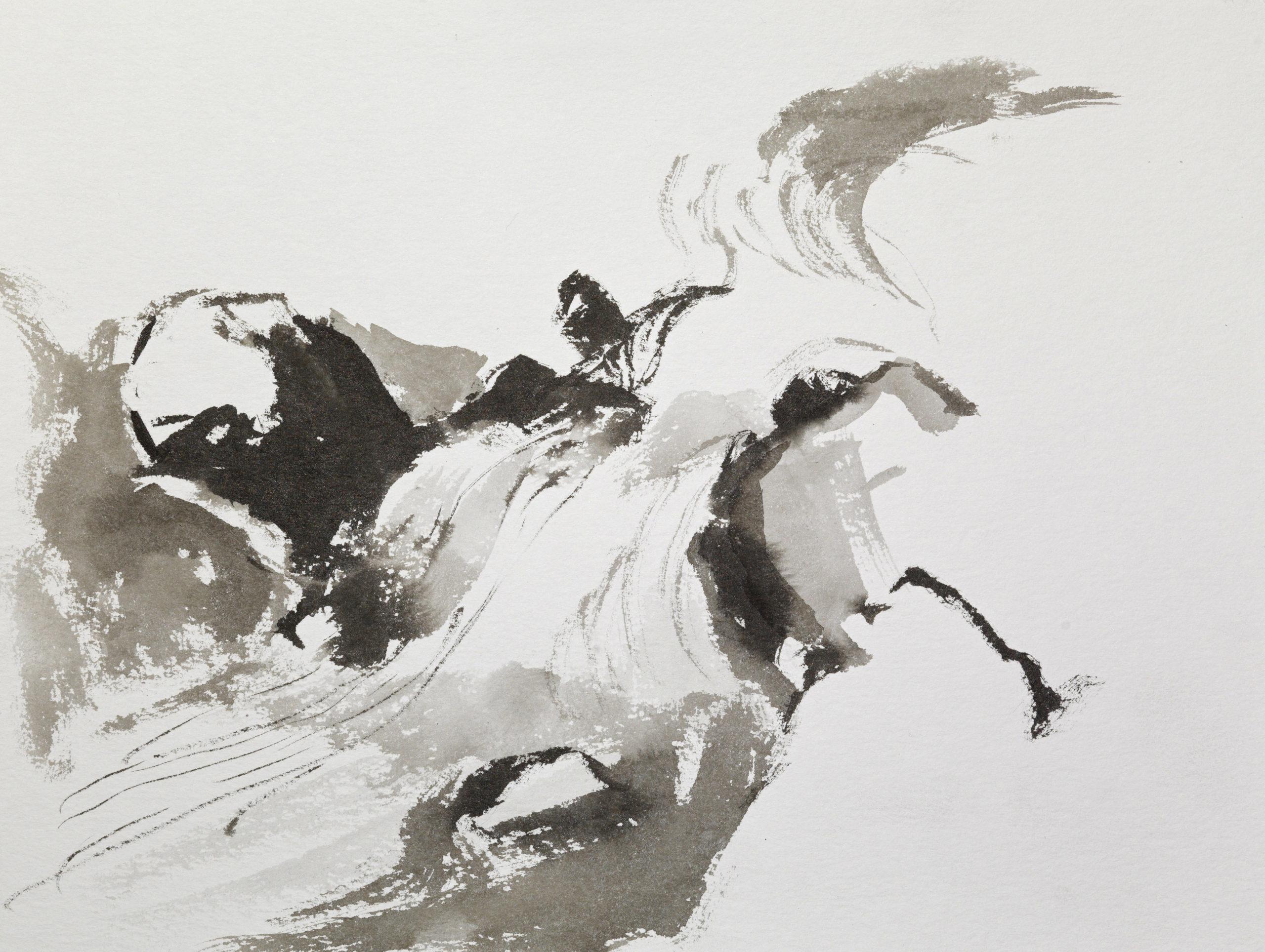 Stream, 32x24cm, ink, paper, 2018