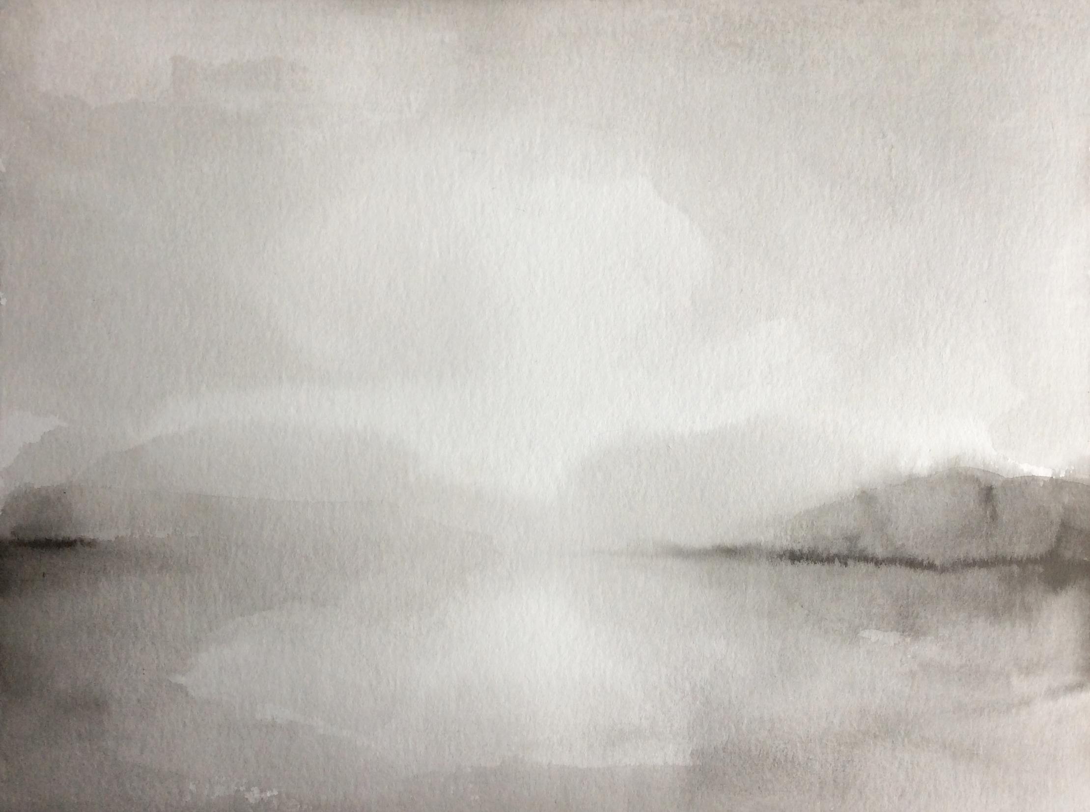 On the Vistula Riber, 30x40cm, ink, paper, 2020