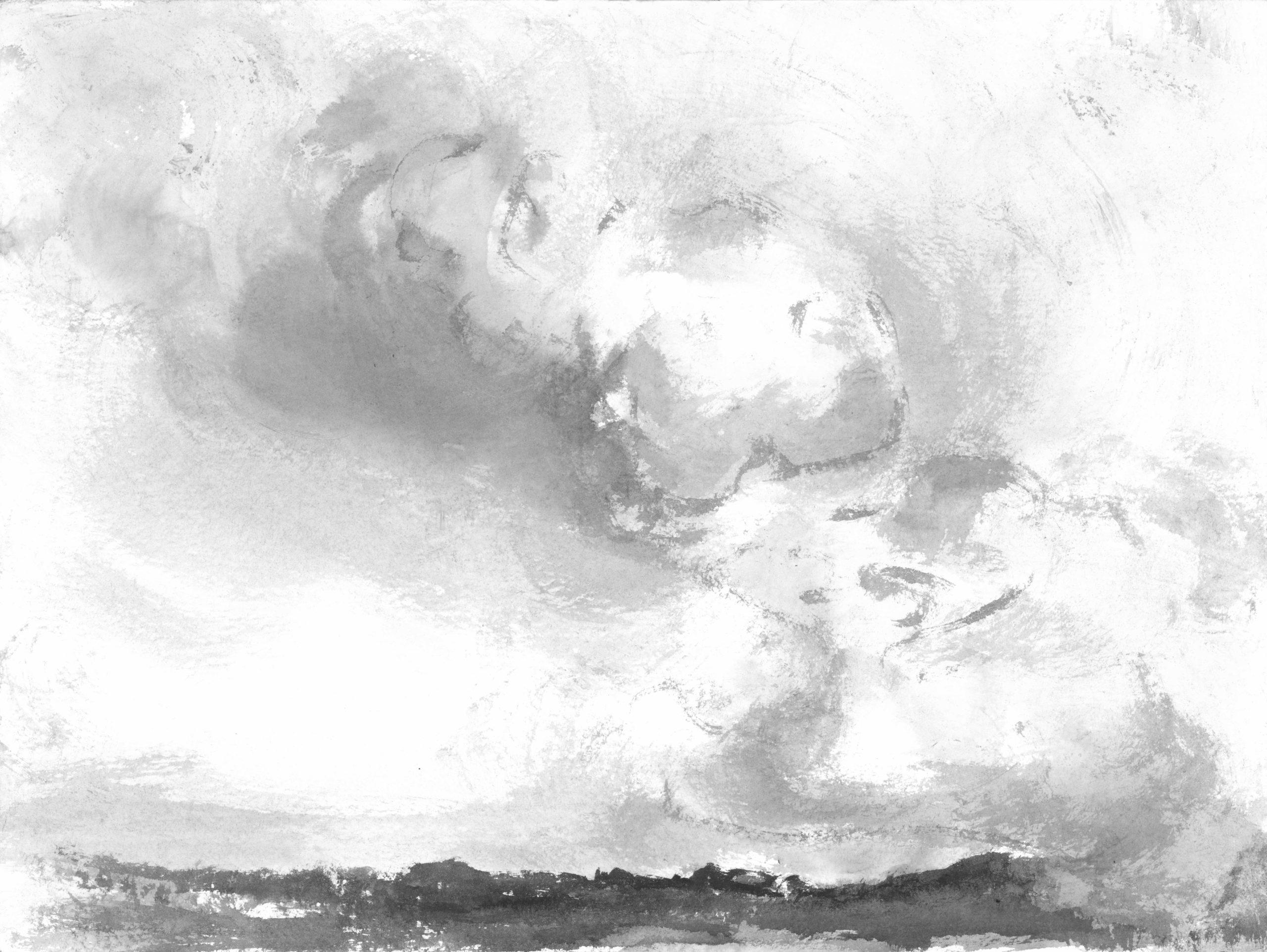 Stromy clouds, 30x40cm, ink, paper, 2017