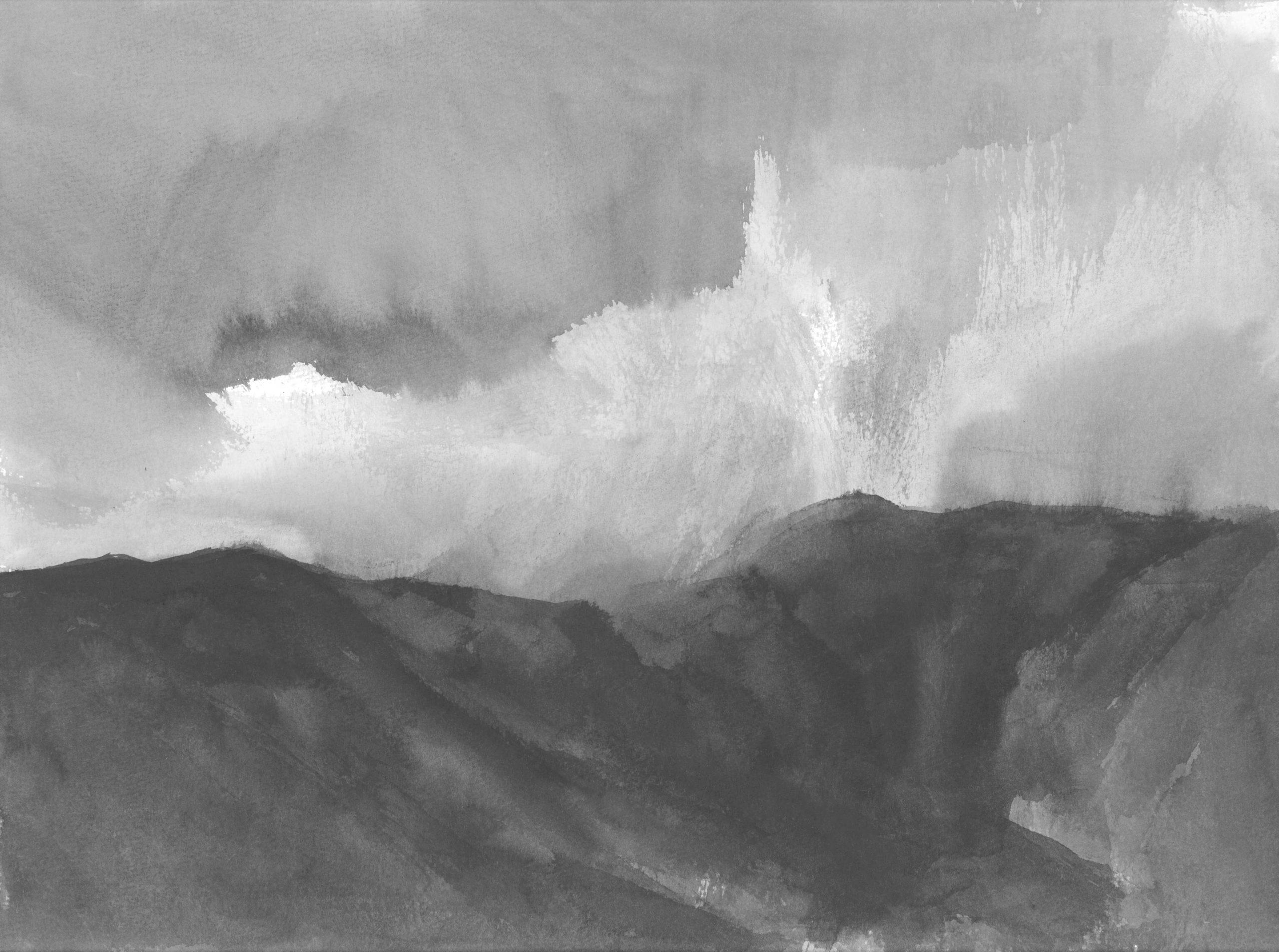 Rainy june, 30x40cm, ink, paper, 2018
