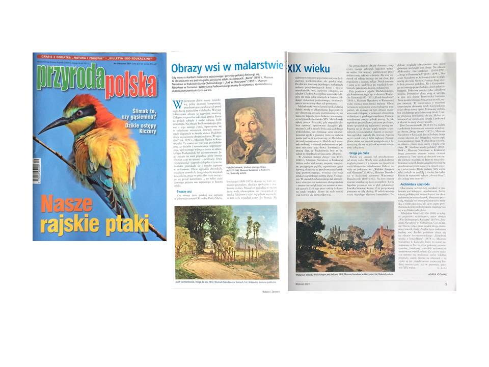 Images of the country in 19th century paintings, Przyroda Polska (Polish nature magazine), 2021