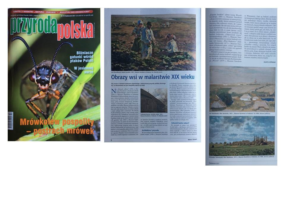 Images of the country in 19th century paintings (Part 2), Przyroda Polska (Polish nature magazine), 2021